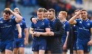 7 April 2018; Rory O'Loughlin, left, and Cian Healy of Leinster following the Guinness PRO14 Round 19 match between Leinster and Zebre at the RDS Arena in Dublin. Photo by Sam Barnes/Sportsfile
