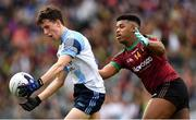 7 April 2018; Michael Brady of Rice College in action against Leo Monteiro of St Ronan's College during the Masita GAA All Ireland Post Primary Schools Hogan Cup Final match between Rice College Westport and St Ronan's College Lurgan at Croke Park in Dublin. Photo by Piaras Ó Mídheach/Sportsfile