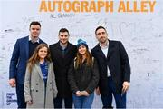 7 April 2018; Leinster players James Ryan, Jack Conan and Robbie Henshaw with supporters in Autograph Alley prior to the Guinness PRO14 Round 19 match between Leinster and Zebre at the RDS Arena in Dublin.  Photo by Sam Barnes/Sportsfile