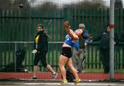8 April 2018; Aoife Hernon of Claremorris A.C. Co Mayo, competing in the U19 Women's Hammer Event during the Irish Life Health National Spring Throws at Templemore in Co. Tipperary. Photo by Sam Barnes/Sportsfile