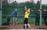 8 April 2018; Bronagh O'Hanlon of Taghmon A.C. Co Wexford, competing in the U18 Women's Hammer Event during the Irish Life Health National Spring Throws at Templemore in Co. Tipperary. Photo by Sam Barnes/Sportsfile