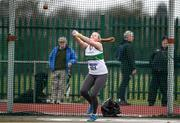 8 April 2018; Ciara Sheehy of Emerald A.C. Co Limerick, competing in the U17 Women's Hammer Event   during the Irish Life Health National Spring Throws at Templemore in Co. Tipperary. Photo by Sam Barnes/Sportsfile