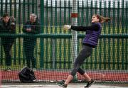 8 April 2018; Keri Noonan of Donore Harriers Co Dublin, competing in the U17 Women's Hammer Event during the Irish Life Health National Spring Throws at Templemore in Co. Tipperary. Photo by Sam Barnes/Sportsfile