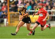 8 April 2018; Jenny Clifford of Kilkenny in action against Leanne O'Sullivan of Cork during the Littlewoods Ireland Camogie League Division 1 Final match between Kilkenny and Cork at Nowlan Park in Kilkenny. Photo by Piaras Ó Mídheach/Sportsfile