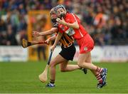 8 April 2018; Aileen Sheehan of Cork in action against Anne Dalton of Kilkenny during the Littlewoods Ireland Camogie League Division 1 Final match between Kilkenny and Cork at Nowlan Park in Kilkenny. Photo by Piaras Ó Mídheach/Sportsfile