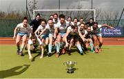 8 April 2018; UCD players celebrate following the Women's Irish Senior Cup Final match between UCD and Pegasus at the National Hockey Stadium in UCD, Dublin. Photo by David Fitzgerald/Sportsfile