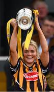 8 April 2018; Kilkenny captain Shelly Farrell lifts the cup following the Littlewoods Ireland Camogie League Division 1 Final match between Kilkenny and Cork at Nowlan Park in Kilkenny. Photo by Stephen McCarthy/Sportsfile