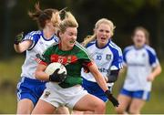8 April 2018; Fiona McHale of Mayo in action against Hazel Kingham of Monaghan during the Lidl Ladies Football National League Division 1 Round 5 match between Mayo and Monaghan at Swinford Amenity Park in Kiltimagh Road, Swinford, Co. Mayo. Photo by Eóin Noonan/Sportsfile