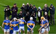 8 April 2018; Tipperary players prepare for their team photograph prior to the Allianz Hurling League Division 1 Final match between Kilkenny and Tipperary at Nowlan Park in Kilkenny. Photo by Stephen McCarthy/Sportsfile