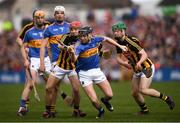 8 April 2018; Alan Flynn of Tipperary in action against Bill Sheehan of Kilkenny during the Allianz Hurling League Division 1 Final match between Kilkenny and Tipperary at Nowlan Park in Kilkenny. Photo by Stephen McCarthy/Sportsfile