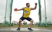 8 April 2018; Padraig Hore of Taghmon A.C., Co Wexford, competing in the U19 Men's Discus Event during the Irish Life Health National Spring Throws at Templemore in Co. Tipperary. Photo by Sam Barnes/Sportsfile