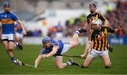 8 April 2018; Jason Forde of Tipperary in action against Padraig Walsh of Kilkenny during the Allianz Hurling League Division 1 Final match between Kilkenny and Tipperary at Nowlan Park in Kilkenny. Photo by Stephen McCarthy/Sportsfile