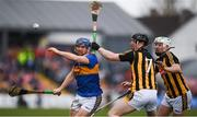 8 April 2018; Jason Forde of Tipperary in action against Enda Morrissey and Padraig Walsh, right, of Kilkenny during the Allianz Hurling League Division 1 Final match between Kilkenny and Tipperary at Nowlan Park in Kilkenny. Photo by Stephen McCarthy/Sportsfile