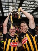 8 April 2018; Kilkenny captain Cillian Buckley, left, and Walter Walsh celebrate with the cup after the Allianz Hurling League Division 1 Final match between Kilkenny and Tipperary at Nowlan Park in Kilkenny. Photo by Stephen McCarthy/Sportsfile