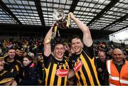 8 April 2018; Kilkenny captain Cillian Buckley, left, and Walter Walsh celebrate with the cup following the Allianz Hurling League Division 1 Final match between Kilkenny and Tipperary at Nowlan Park in Kilkenny. Photo by Stephen McCarthy/Sportsfile