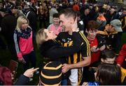 8 April 2018; Kilkenny captain Cillian Buckley and partner Niamh Dowling following the Allianz Hurling League Division 1 Final match between Kilkenny and Tipperary at Nowlan Park in Kilkenny. Photo by Stephen McCarthy/Sportsfile