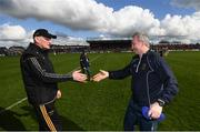 8 April 2018; Tipperary manager Michael Ryan, right, and Kilkenny manager Brian Cody following the Allianz Hurling League Division 1 Final match between Kilkenny and Tipperary at Nowlan Park in Kilkenny. Photo by Stephen McCarthy/Sportsfile