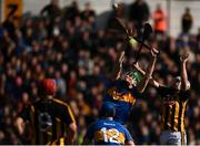 8 April 2018; Brian Hogan of Tipperary in action against Padraig Walsh of Kilkenny during the Allianz Hurling League Division 1 Final match between Kilkenny and Tipperary at Nowlan Park in Kilkenny. Photo by Stephen McCarthy/Sportsfile