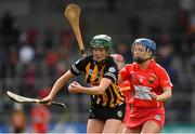 8 April 2018; Denise Gaule of Kilkenny in action against Orla Cronin of Cork during the Littlewoods Ireland Camogie League Division 1 Final match between Kilkenny and Cork at Nowlan Park in Kilkenny. Photo by Piaras Ó Mídheach/Sportsfile