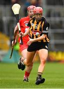 8 April 2018; Aoife Doyle of Kilkenny in action against Chloe Sigerson of Cork during the Littlewoods Ireland Camogie League Division 1 Final match between Kilkenny and Cork at Nowlan Park in Kilkenny. Photo by Piaras Ó Mídheach/Sportsfile