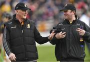 8 April 2018; Kilkenny manager Brian Cody, left, with selector James McGarry before the Allianz Hurling League Division 1 Final match between Kilkenny and Tipperary at Nowlan Park in Kilkenny. Photo by Piaras Ó Mídheach/Sportsfile