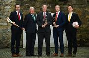 9 April 2018: Club legends, from left, Eoin Larkin of James Stephens, Billy Morgan of Nemo Rangers, Coman Goggins of Ballinteer St Johns and Aaron Kernan of Crossmaglen Rangers, with Uachtarán Chumann Lúthchleas Gael John Horan, at the launch of the inaugural AIB GAA Club Player Awards. The awards ceremony will be the first of its kind in the club championship to recognise the top performing club players and to celebrate their hard work, commitment and individual achievements at a national level. The awards ceremony will take place in Croke Park, on Saturday 21st April. For exclusive content and to see why AIB are backing Club and County follow us @AIB_GAA on Twitter, Instagram, Snapchat, Facebook and AIB.ie/GAA. Photo by Ramsey Cardy/Sportsfile
