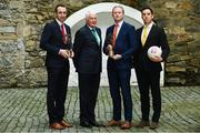 9 April 2018: Club legends, from left, Eoin Larkin of James Stephens, Billy Morgan of Nemo Rangers, Coman Goggins of Ballinteer St Johns and Aaron Kernan of Crossmaglen Rangers, at the launch of the inaugural AIB GAA Club Player Awards. The awards ceremony will be the first of its kind in the club championship to recognise the top performing club players and to celebrate their hard work, commitment and individual achievements at a national level. The awards ceremony will take place in Croke Park, on Saturday 21st April. For exclusive content and to see why AIB are backing Club and County follow us @AIB_GAA on Twitter, Instagram, Snapchat, Facebook and AIB.ie/GAA. Photo by Ramsey Cardy/Sportsfile