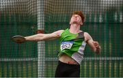8 April 2018; Darragh Gaffney of North Westmeath A.C., Co Westmeath, competing in the U20 Men's Discus Event during the Irish Life Health National Spring Throws at Templemore in Co. Tipperary. Photo by Sam Barnes/Sportsfile