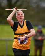 8 April 2018; Pat Moore of Leevale A.C., Co Cork, competing in the M70 Men's Javelin Event during the Irish Life Health National Spring Throws at Templemore in Co. Tipperary. Photo by Sam Barnes/Sportsfile
