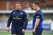 9 April 2018; Sean Cronin, left, and Bryan Byrne during Leinster Rugby squad training at Energia Park in Donnybrook, Dublin. Photo by David Fitzgerald/Sportsfile