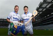 10 April 2018; Dublin footballer Ciaran Kilkenny and Wexford hurler Lee Chin in attendance in Croke Park, Dublin, at the launch of the 2018 Beko Club Bua award scheme, Leinster GAA's accreditation and health check system for clubs in the province. For more information visit leinstergaa.ie/club-bua/. Photo by Stephen McCarthy/Sportsfile