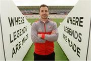 10 April 2018; Tommy Bowe during an Ulster Rugby press conference at Kingspan Stadium in Belfast. Photo by Oliver McVeigh/Sportsfile