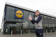 11 April 2018; The Lidl/Irish Daily Star Manager of the Month for March was announced today as Anthony Masterson from Wexford. Under Anthony's stewardship, Wexford have qualified for the Lidl National League Division 3 semi-finals, finishing on top of the table with 18 points from a possible 21. Pictured is Anthony Masterson with his award at Lidl in Gorey. Photo by Matt Browne/Sportsfile