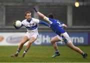12 April 2018; Nathan Mullins of St Vincents in action against Sean Rocks of Skerries Harps during the Dublin County Senior Club Football Championship match between St. Vincent's and Skerries Harps at Parnell Park in Dublin. Photo by Sam Barnes/Sportsfile