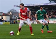 13 April 2018; Simon Madden of St Patrick's Athletic in action against Graham Cummins of Cork City during SSE Airtricity League Premier Division match between Cork City and St Patrick's Athletic at Turner's Cross in Cork. Photo by Piaras Ó Mídheach/Sportsfile