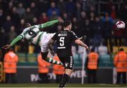 13 April 2018; Dan Carr of Shamrock Rovers shoots to score his side's first goal during the SSE Aitricity League Premier Division match between Shamrock Rovers and Bohemians at Tallaght Stadium in Tallaght, Dublin. Photo by Seb Daly/Sportsfile