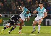 13 April 2018; Bundee Aki of Connacht is tackled by Callum Gibbins of Glasgow Warriors during the Guinness PRO14 Round 20 match between Glasgow Warriors and Connacht at Scotstown Stadium in Glasgow, Scotland. Photo by Paul Devlin/Sportsfile