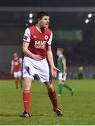 13 April 2018; Owen Garvan of St Patrick's Athletic urges on his team-mates during SSE Airtricity League Premier Division match between Cork City and St Patrick's Athletic at Turner's Cross in Cork. Photo by Piaras Ó Mídheach/Sportsfile