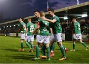 13 April 2018; Graham Cummins of Cork City, centre, celebrates scoring his side's first goal during SSE Airtricity League Premier Division match between Cork City and St Patrick's Athletic at Turner's Cross in Cork. Photo by Piaras Ó Mídheach/Sportsfile