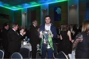 13 April 2018; Leinster and Ireland player James Ryan with the 6 Nations during the UCD RFC Annual Dinner 2018 at UCD O'Reilly Hall in Belfield. Photo by Matt Browne/Sportsfile