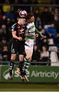 13 April 2018; Rob Cornwall of Bohemians in action against Gary Shaw of Shamrock Rovers during the SSE Aitricity League Premier Division match between Shamrock Rovers and Bohemians at Tallaght Stadium in Tallaght, Dublin. Photo by Seb Daly/Sportsfile