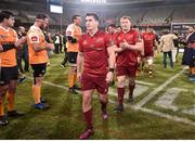 13 April 2018; Andrew Conway of Munster and his team-mates after the Guinness PRO14 Round 20 match between Toyota Cheetahs and Munster at Toyota Stadium in Bloemfontein, South Africa. Photo by Johan Pretorius/Sportsfile
