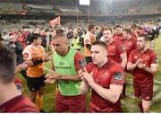 13 April 2018; Munster players, including Simon Zebo, after the Guinness PRO14 Round 20 match between Toyota Cheetahs and Munster at Toyota Stadium in Bloemfontein, South Africa. Photo by Johan Pretorius/Sportsfile