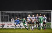 13 April 2018; Gary McCabe of Bray Wanderers takes  a free kick for his side during the SSE Airtricity League Premier Division match between Bray Wanderers and Dundalk at the Carlisle Grounds in Bray, Co Wicklow. Photo by Eóin Noonan/Sportsfile