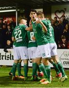13 April 2018; Shane Griffin of Cork City celebrates a goal scored by team-mate Graham Cummins during SSE Airtricity League Premier Division match between Cork City and St Patrick's Athletic at Turner's Cross in Cork. Photo by Piaras Ó Mídheach/Sportsfile