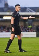 13 April 2018; Referee Robert Hennessy during the SSE Airtricity League Premier Division match between Cork City and St Patrick's Athletic at Turner's Cross in Cork. Photo by Piaras Ó Mídheach/Sportsfile