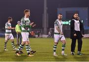 13 April 2018; Gary Shaw, left, and Brandon Miele, centre, of Shamrock Rovers leave the field following their side's defeat during the SSE Aitricity League Premier Division match between Shamrock Rovers and Bohemians at Tallaght Stadium in Tallaght, Dublin. Photo by Seb Daly/Sportsfile