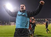 13 April 2018; Dan Byrne of Bohemians celebrates following his side's victory during the SSE Aitricity League Premier Division match between Shamrock Rovers and Bohemians at Tallaght Stadium in Tallaght, Dublin. Photo by Seb Daly/Sportsfile