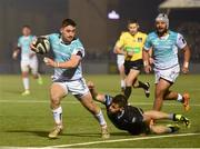 13 April 2018; Caolin blades of Connacht scores his side's second try during the Guinness PRO14 Round 20 match between Glasgow Warriors and Connacht at Scotstoun Stadium in Glasgow, Scotland. Photo by Paul Devlin/Sportsfile