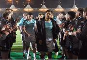 13 April 2018; Connacht captain Jarrad Butler leads his team through the tunnel after the Guinness PRO14 Round 20 match between Glasgow Warriors and Connacht at Scotstoun Stadium in Glasgow, Scotland. Photo by Paul Devlin/Sportsfile